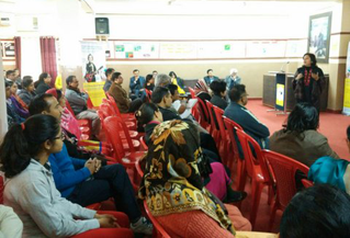 Dr. Anubhuti at career counselling session at DPSG PalamVihar, Gurgaon